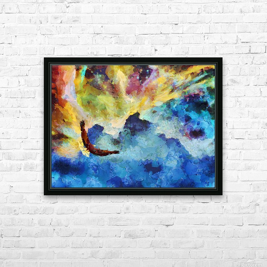 Bird of Freedom HD Sublimation Metal print with Decorating Float Frame (BOX)