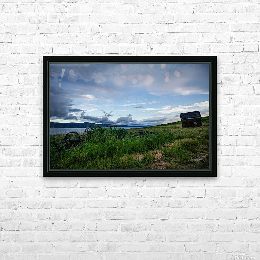 Island shack HD Sublimation Metal print with Decorating Float Frame (BOX)