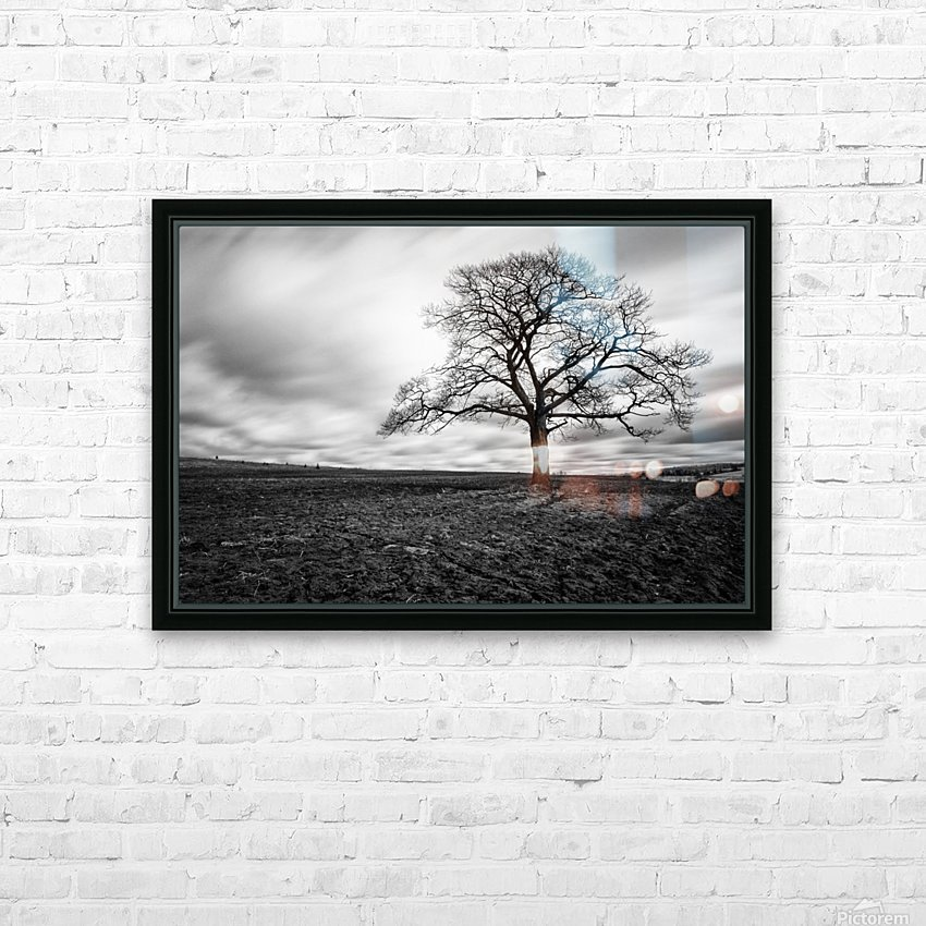 Dark Tree HD Sublimation Metal print with Decorating Float Frame (BOX)