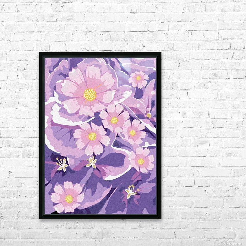 Abstract Flowers  HD Sublimation Metal print with Decorating Float Frame (BOX)