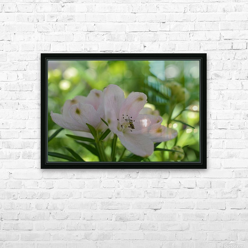 White Flowers Photograph HD Sublimation Metal print with Decorating Float Frame (BOX)