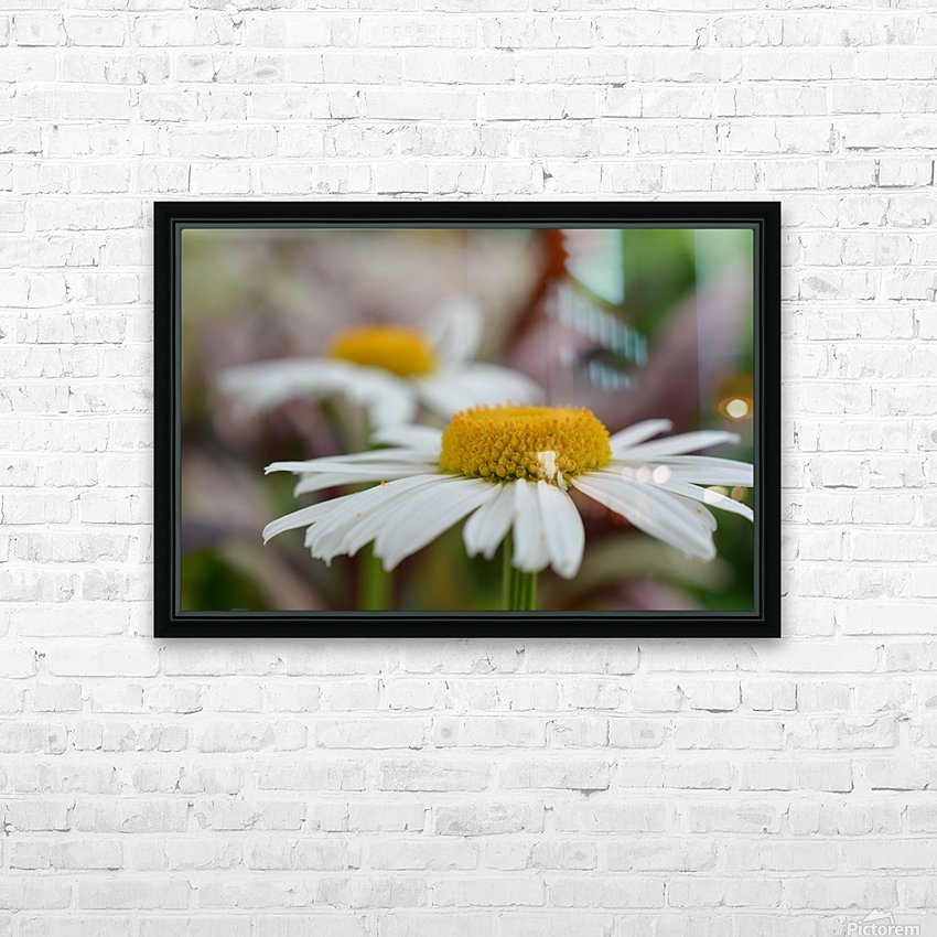 White Flower Photograph HD Sublimation Metal print with Decorating Float Frame (BOX)