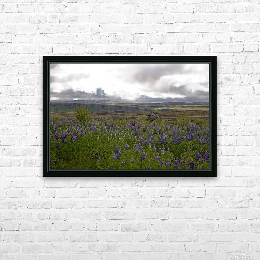 Iceland in Bloom HD Sublimation Metal print with Decorating Float Frame (BOX)
