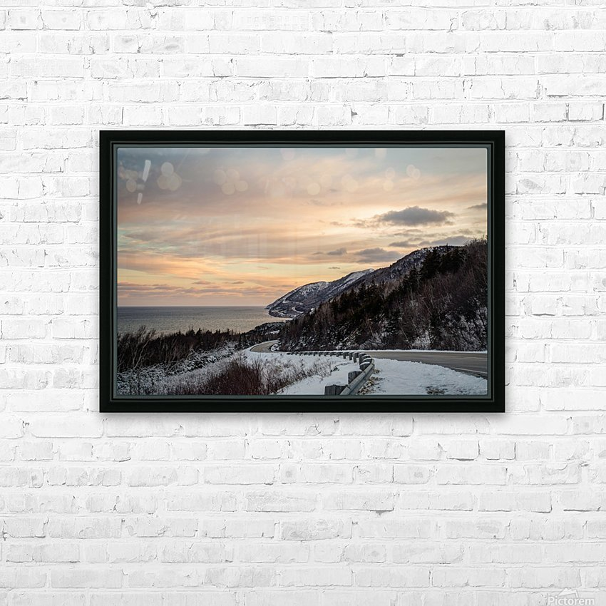 Winter Sunrise HD Sublimation Metal print with Decorating Float Frame (BOX)