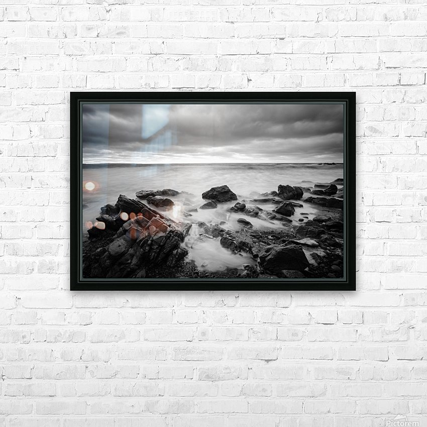 Rocky shore HD Sublimation Metal print with Decorating Float Frame (BOX)