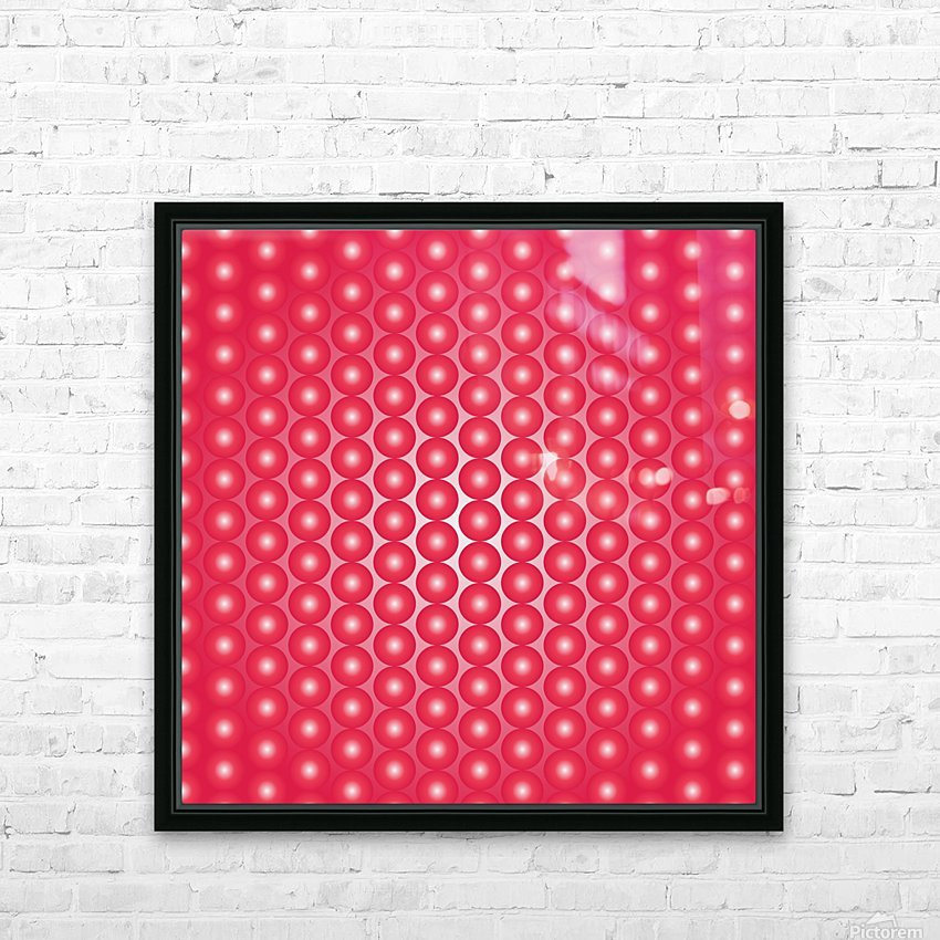 Red Pearl Pattern HD Sublimation Metal print with Decorating Float Frame (BOX)