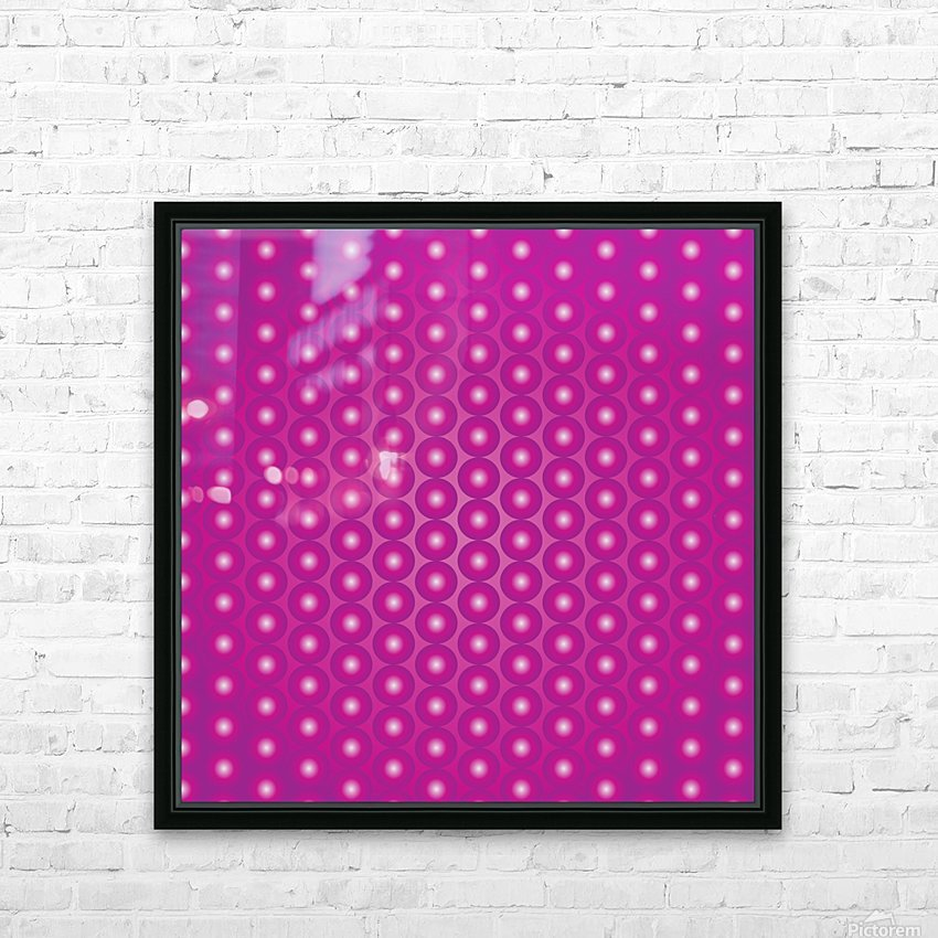 Magenta Pearl Pattern HD Sublimation Metal print with Decorating Float Frame (BOX)