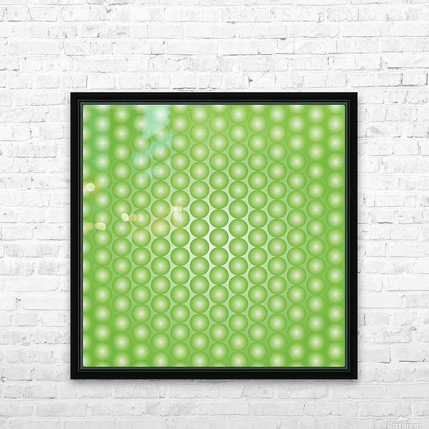 Yellow Green Pearl Pattern HD Sublimation Metal print with Decorating Float Frame (BOX)