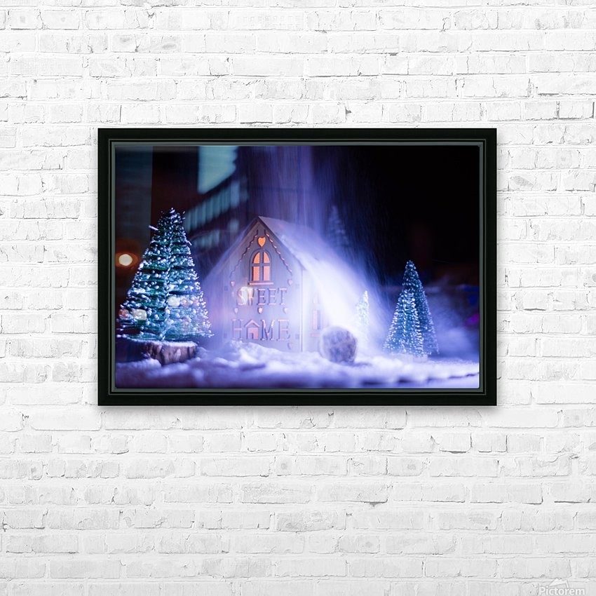 Christmas is coming HD Sublimation Metal print with Decorating Float Frame (BOX)
