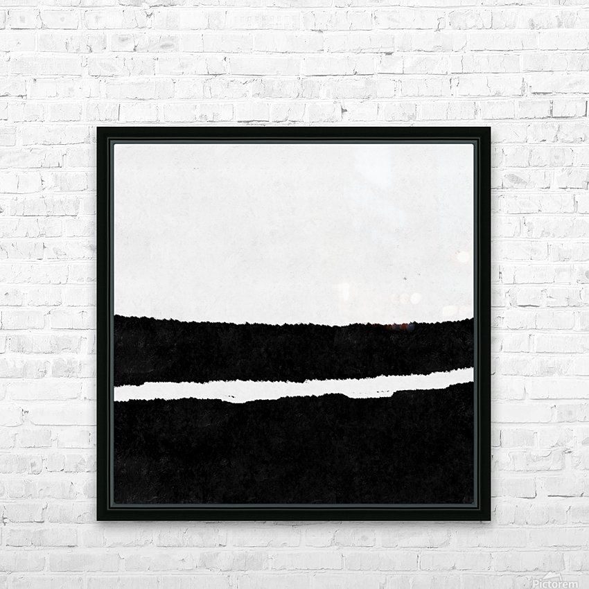 Black White Minimal Abstract Painting Nr.102 HD Sublimation Metal print with Decorating Float Frame (BOX)