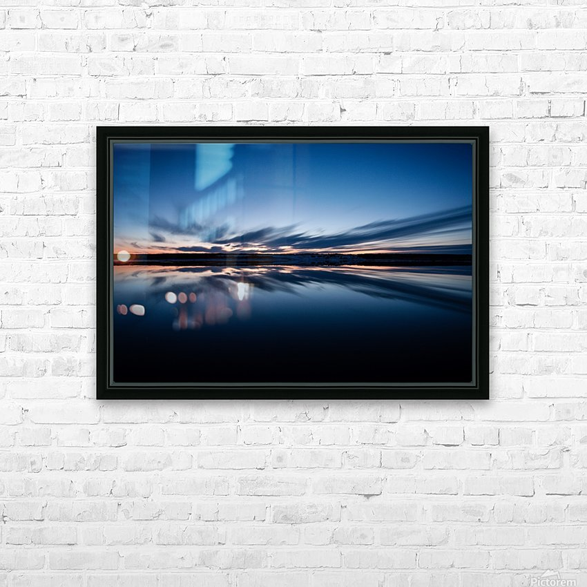 Feather skies HD Sublimation Metal print with Decorating Float Frame (BOX)