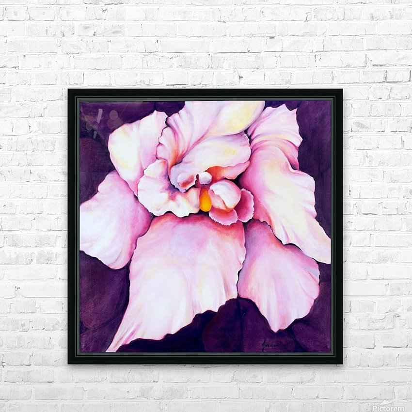 THE ORCHID HD Sublimation Metal print with Decorating Float Frame (BOX)