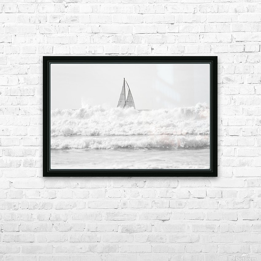 SAILING IN THE SURF HD Sublimation Metal print with Decorating Float Frame (BOX)