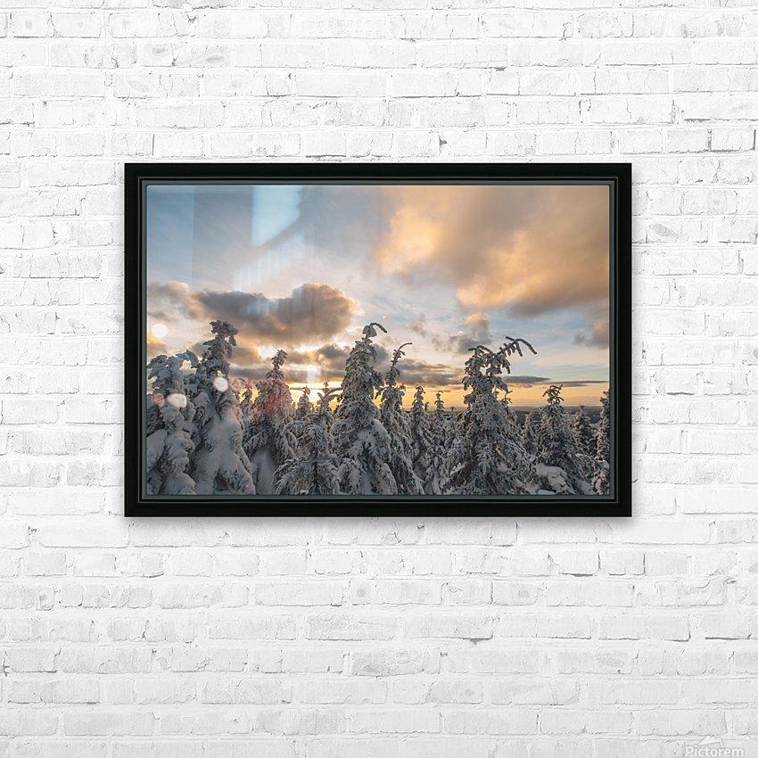 Winter sky HD sublimation métal imprimé avec décoration flotteur cadre (boîte)