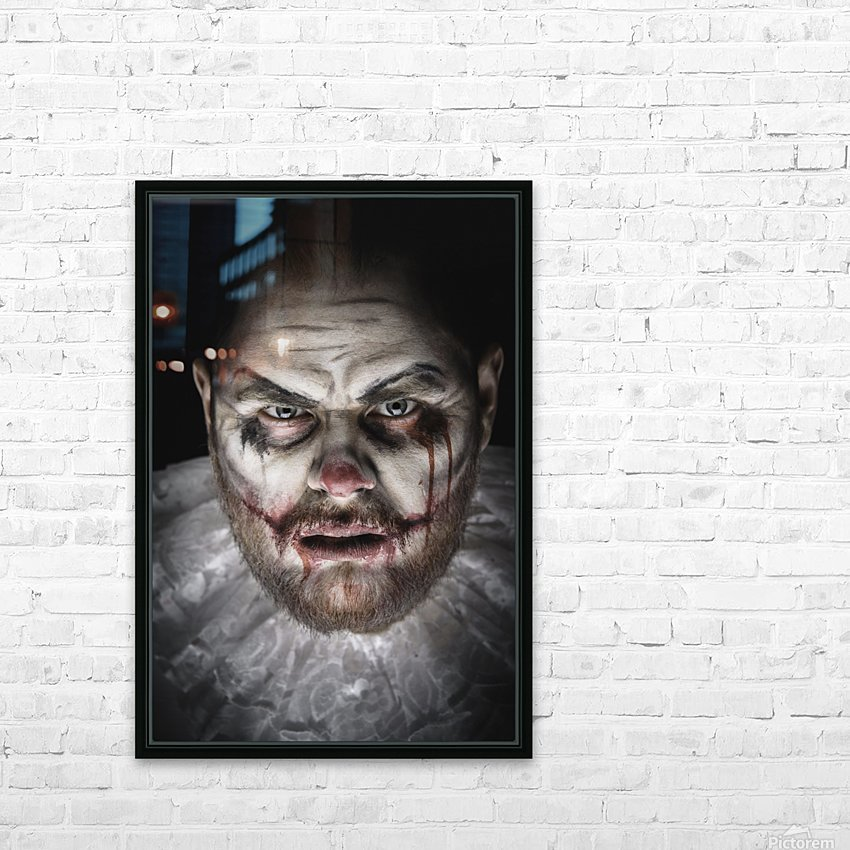 Scary Evil Clown HD Sublimation Metal print with Decorating Float Frame (BOX)