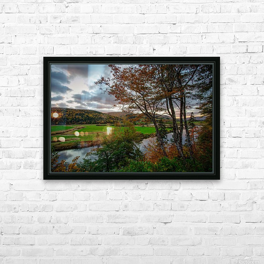 Serene Valley HD Sublimation Metal print with Decorating Float Frame (BOX)