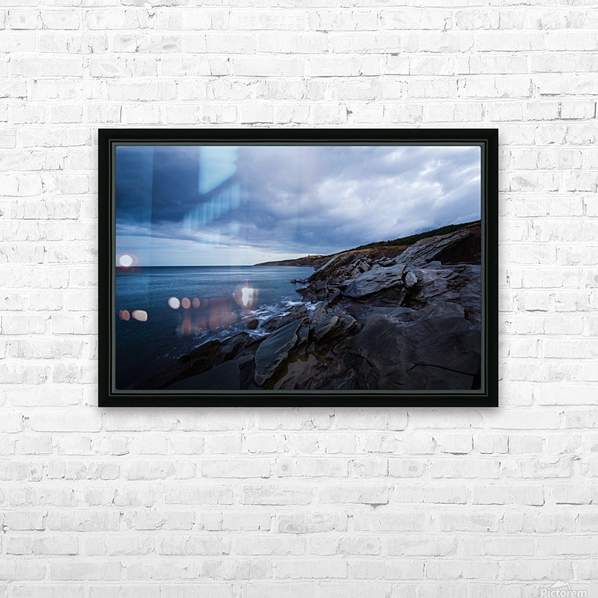 Deep Blue HD Sublimation Metal print with Decorating Float Frame (BOX)