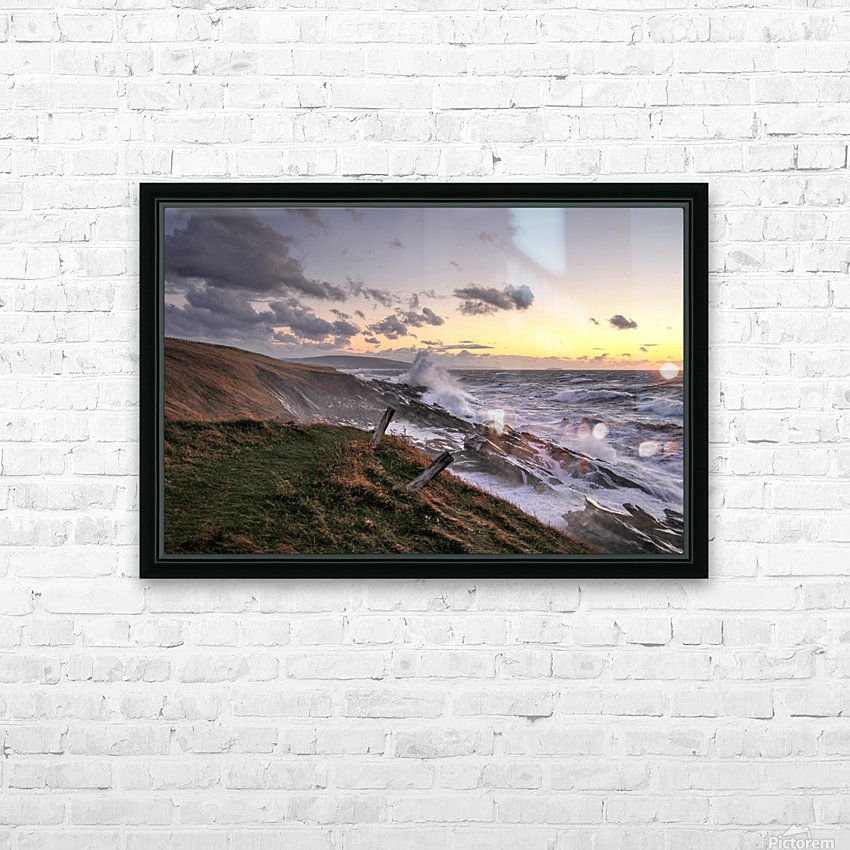 Furious Ocean HD Sublimation Metal print with Decorating Float Frame (BOX)
