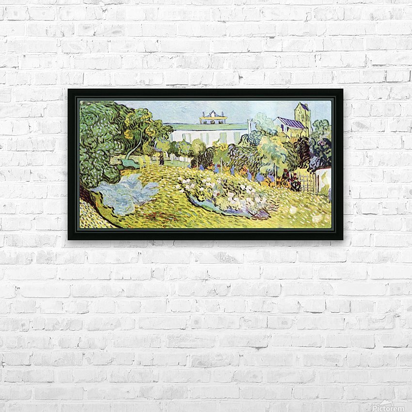 The garden of the Daubignys by Van Gogh HD Sublimation Metal print with Decorating Float Frame (BOX)