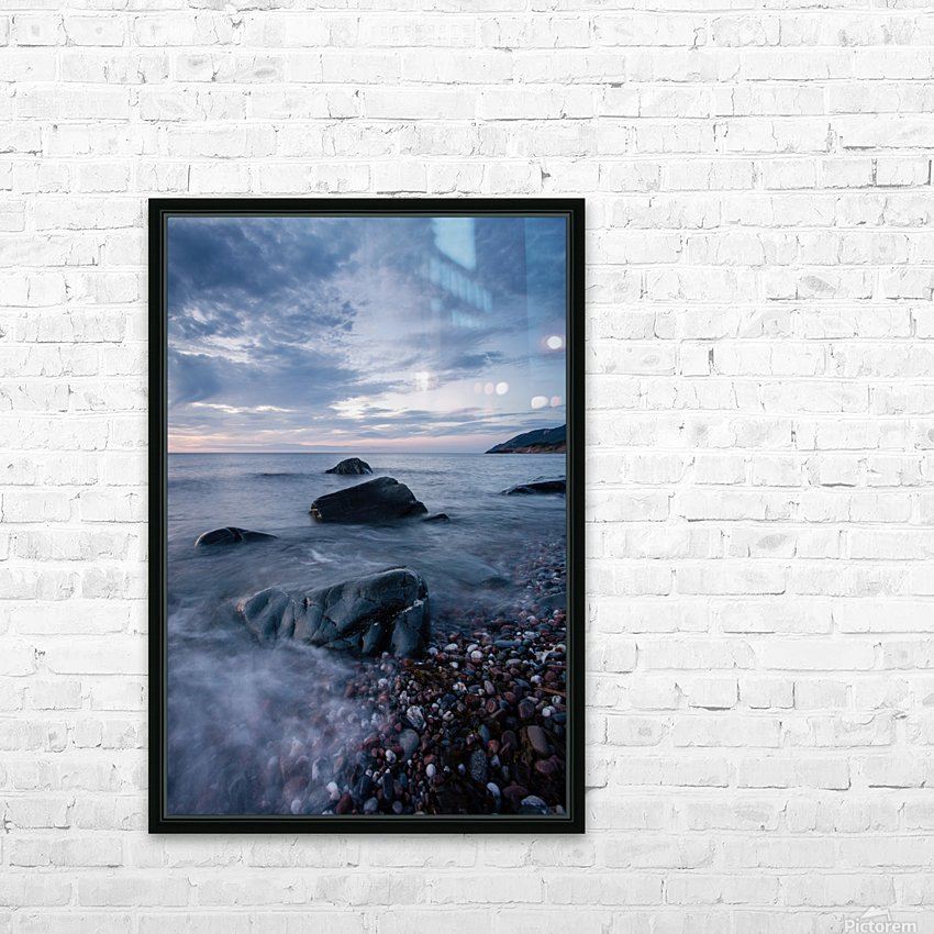 Shades of blue HD Sublimation Metal print with Decorating Float Frame (BOX)