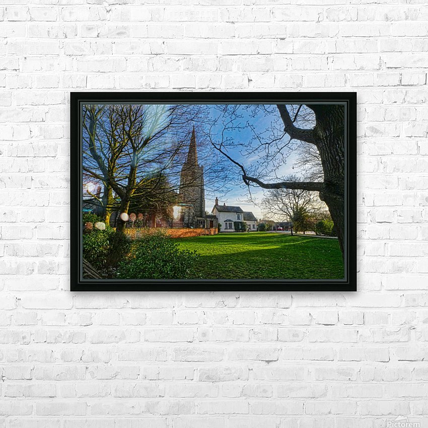 Church house HD Sublimation Metal print with Decorating Float Frame (BOX)