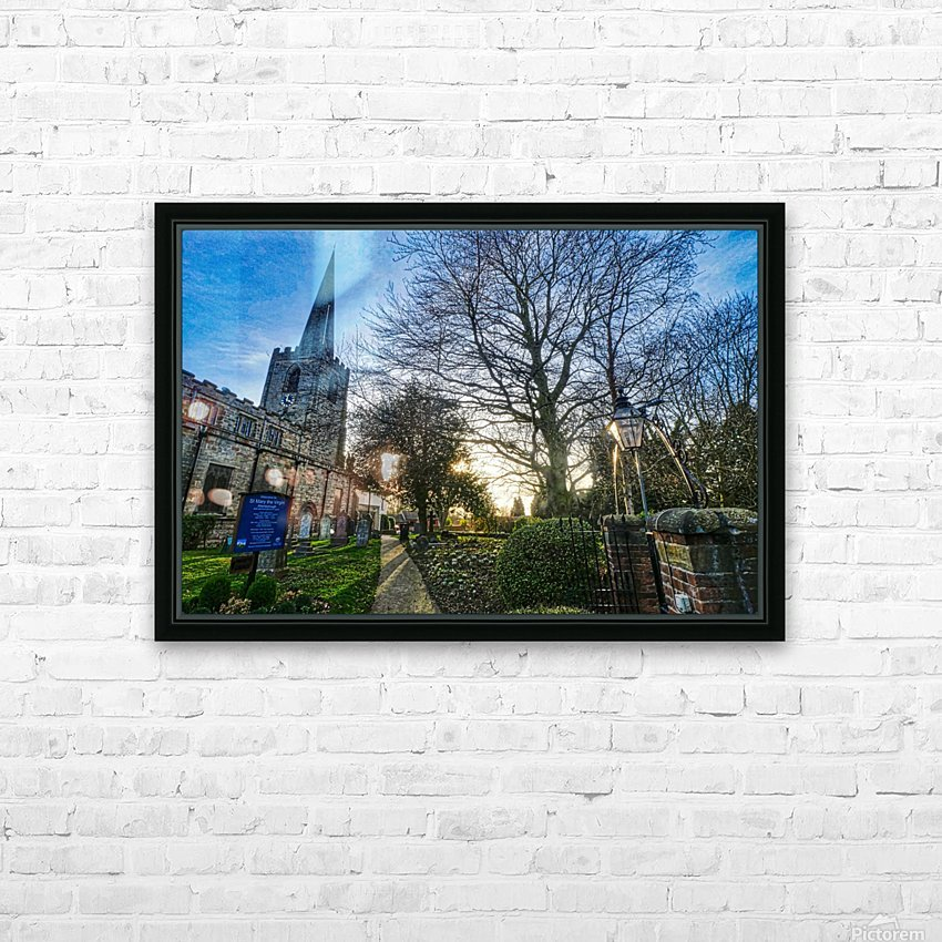 Churchyard HD Sublimation Metal print with Decorating Float Frame (BOX)