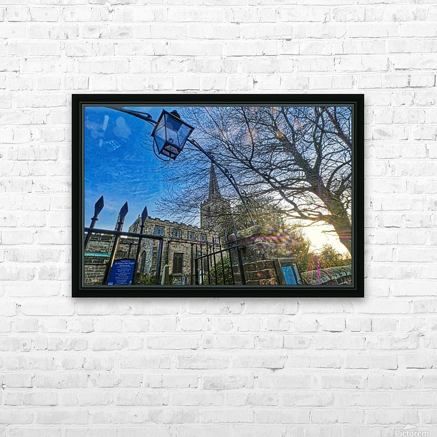 Church lamp HD Sublimation Metal print with Decorating Float Frame (BOX)