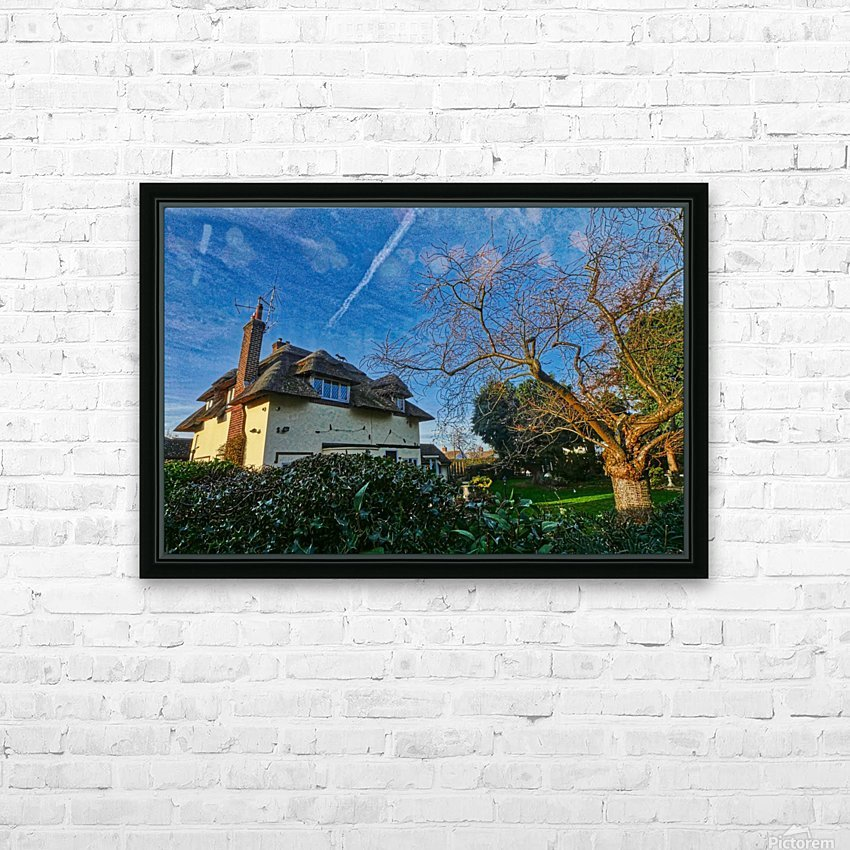 Fox on the roof HD Sublimation Metal print with Decorating Float Frame (BOX)