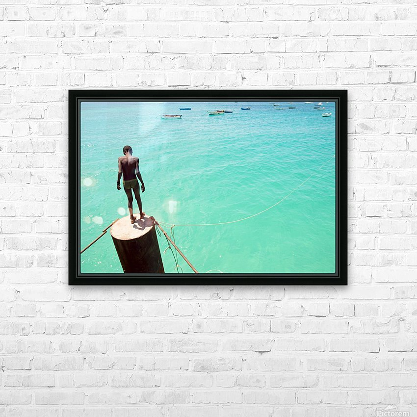 INTO THE BLUE 2. HD Sublimation Metal print with Decorating Float Frame (BOX)