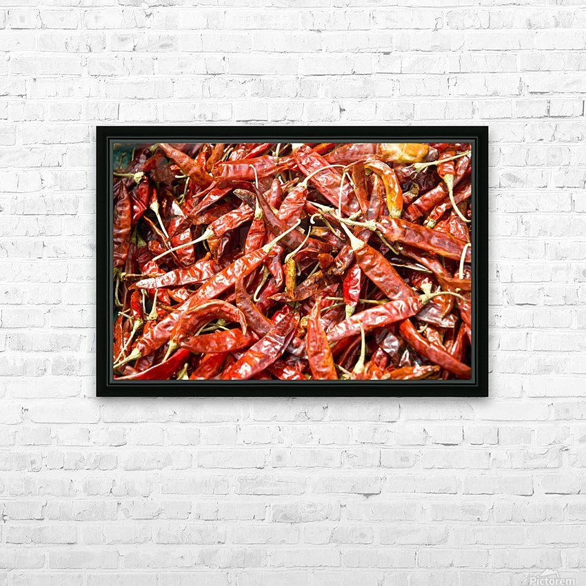 RED CHILLI PEPPERS HD Sublimation Metal print with Decorating Float Frame (BOX)