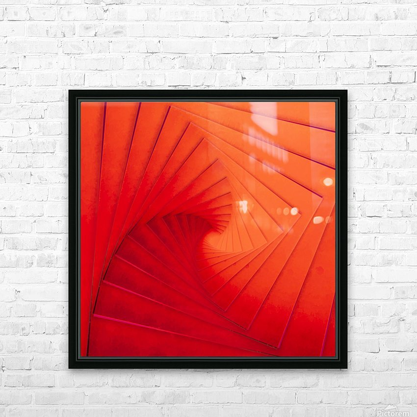 Composition Vermillon HD Sublimation Metal print with Decorating Float Frame (BOX)
