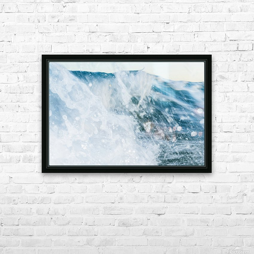 THE WAVE HD Sublimation Metal print with Decorating Float Frame (BOX)