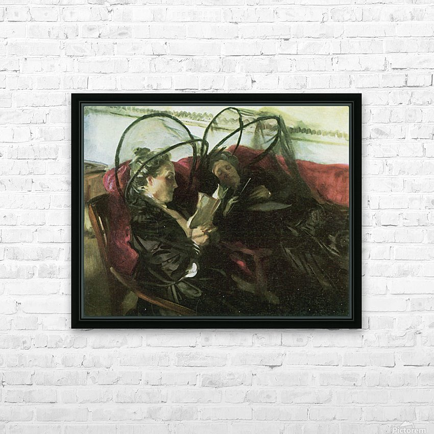 Mosquito nets by John Singer Sargent HD Sublimation Metal print with Decorating Float Frame (BOX)