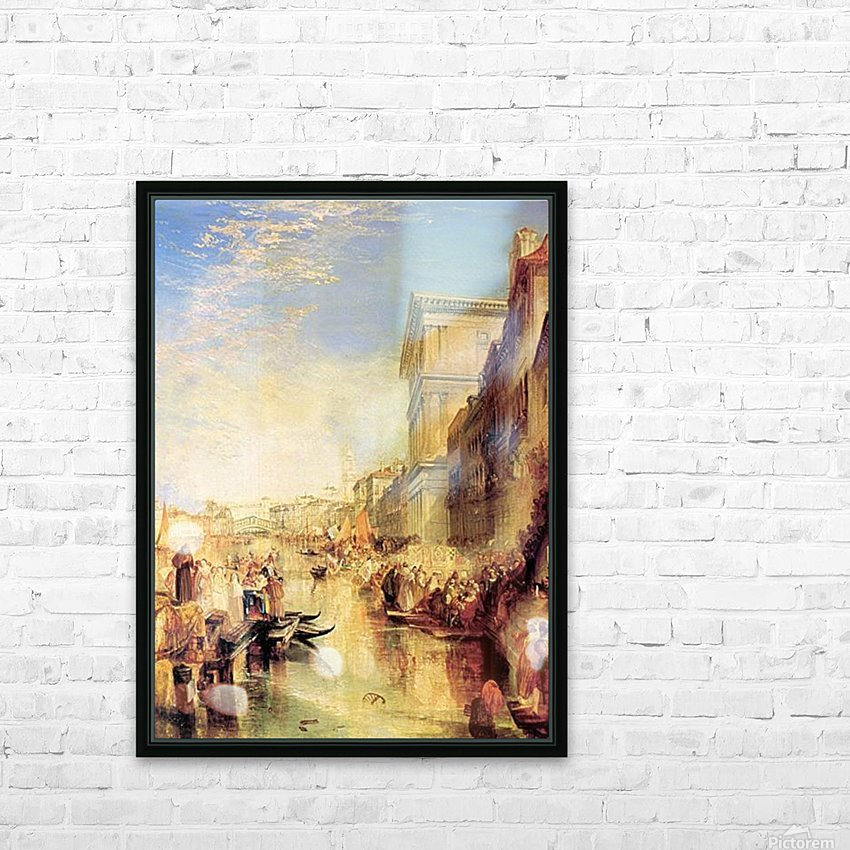 The grand canal in Venice by Joseph Mallord Turner HD Sublimation Metal print with Decorating Float Frame (BOX)