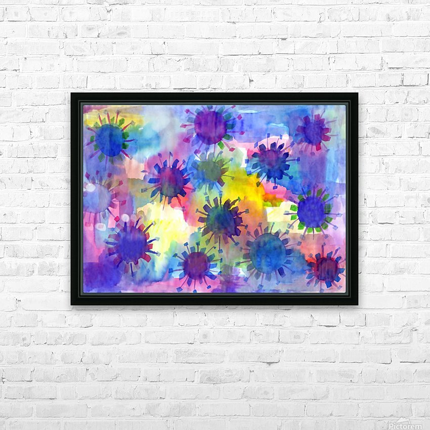 Watercolor blots HD Sublimation Metal print with Decorating Float Frame (BOX)