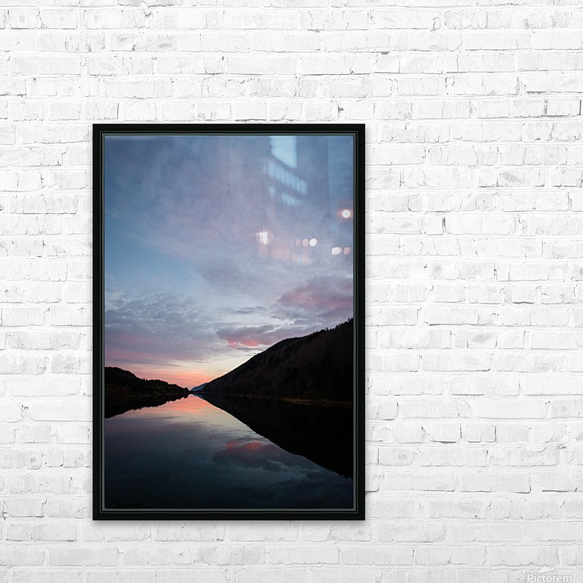 Blissful morning HD Sublimation Metal print with Decorating Float Frame (BOX)