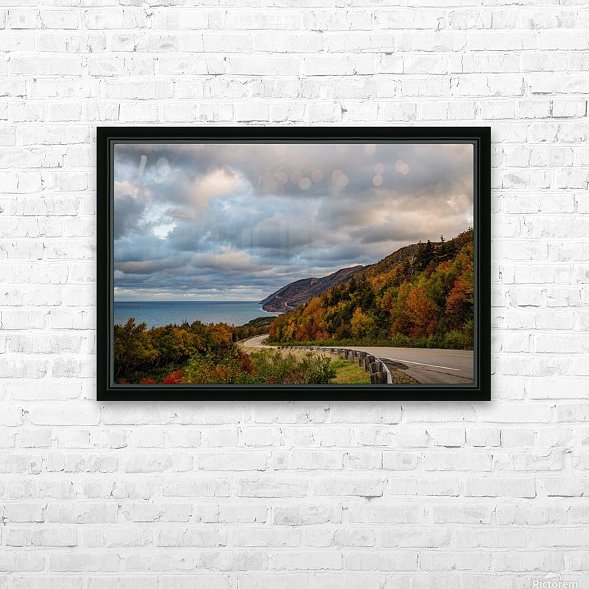 Autumn on the trail HD Sublimation Metal print with Decorating Float Frame (BOX)