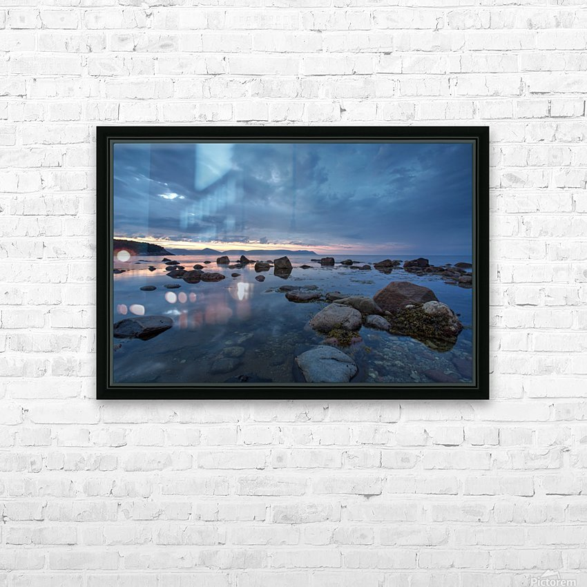 Mountain Range HD Sublimation Metal print with Decorating Float Frame (BOX)