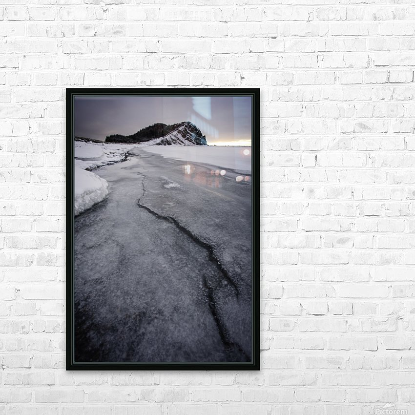 Cracked  HD Sublimation Metal print with Decorating Float Frame (BOX)