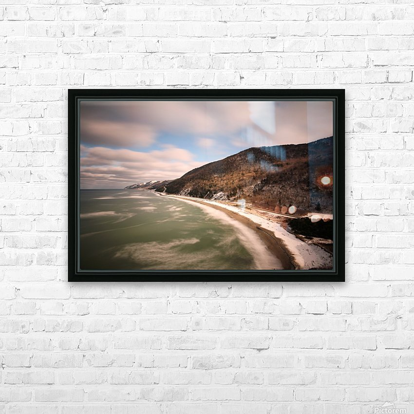 White Shoreline HD Sublimation Metal print with Decorating Float Frame (BOX)