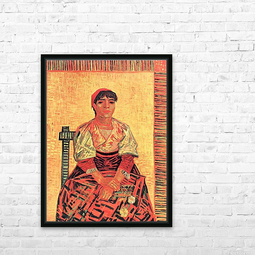 The Italian by Van Gogh HD Sublimation Metal print with Decorating Float Frame (BOX)