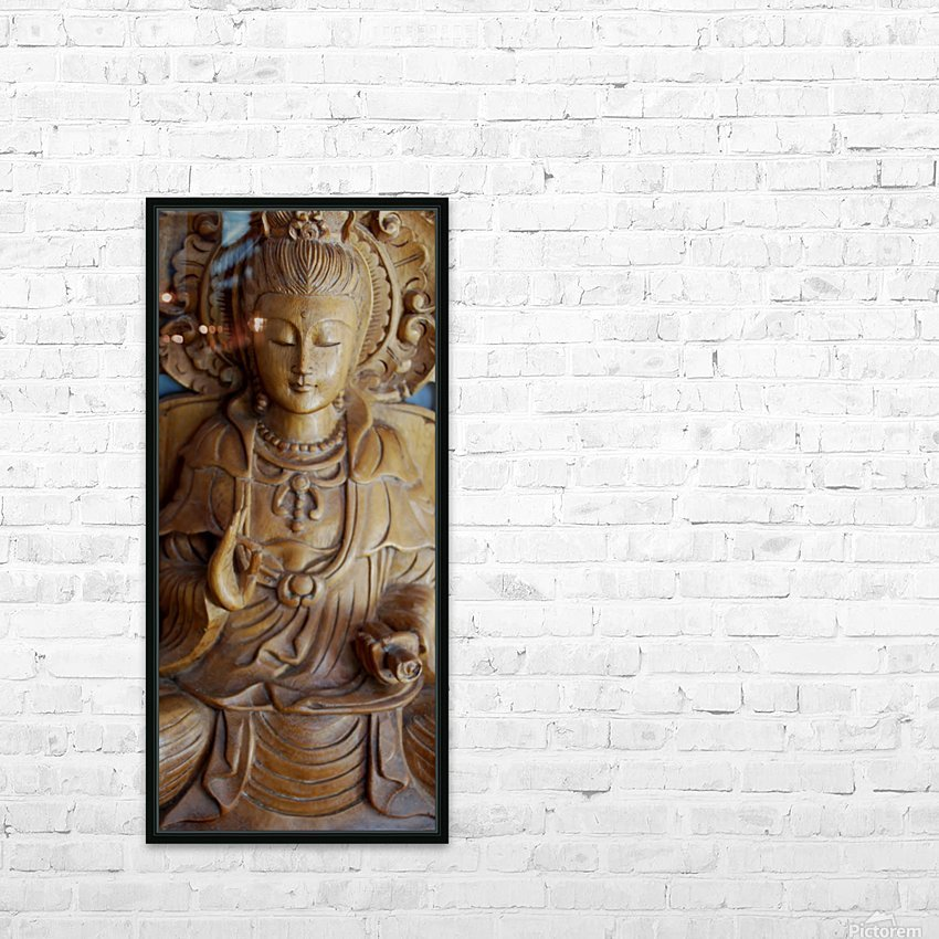 Quan Yin Compassion HD Sublimation Metal print with Decorating Float Frame (BOX)