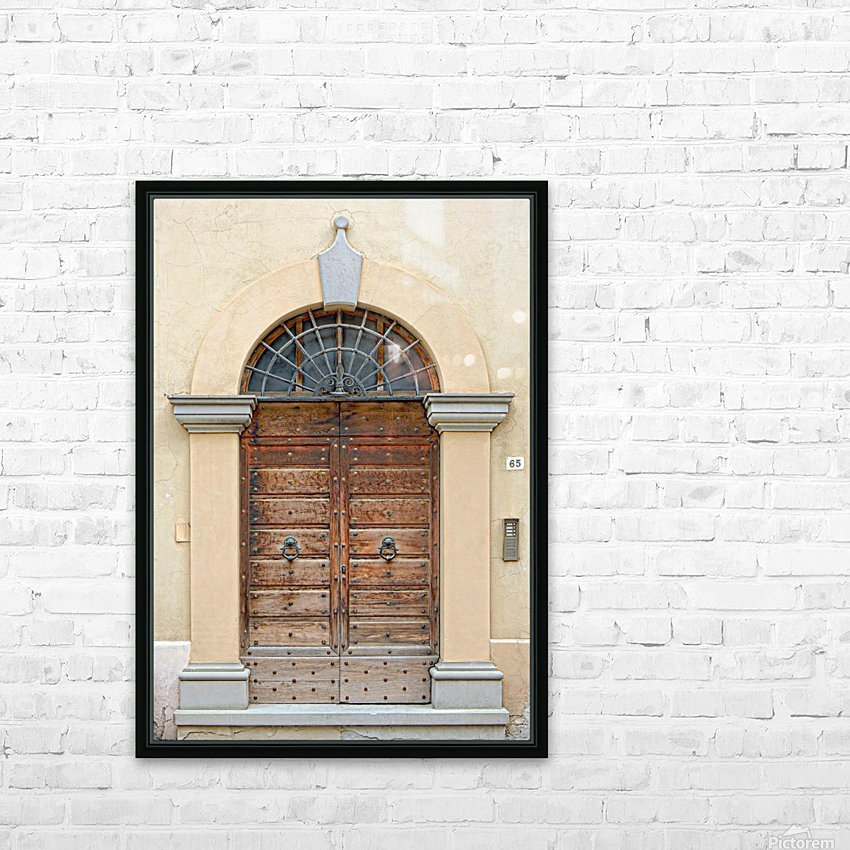 Old Wooden Door Tavernelle HD Sublimation Metal print with Decorating Float Frame (BOX)
