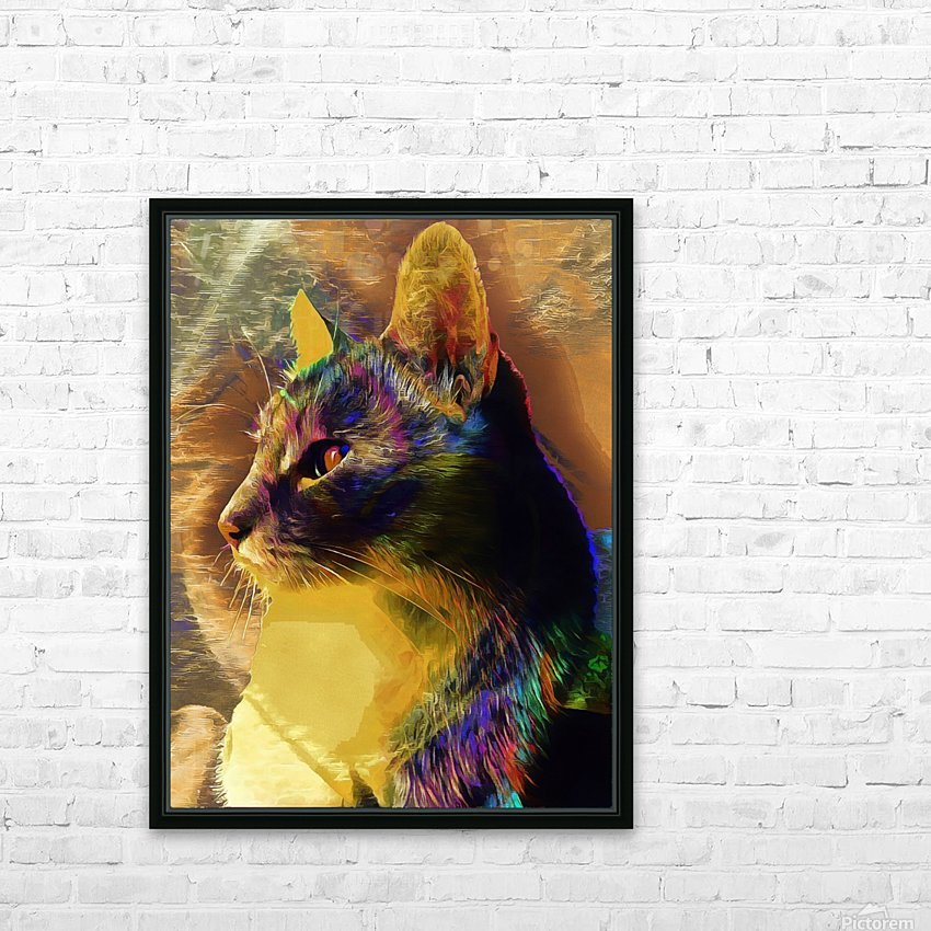 Cat Spirit Guide HD Sublimation Metal print with Decorating Float Frame (BOX)