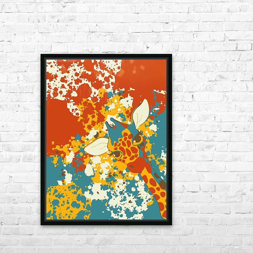 Cute Giraffe Abstract HD Sublimation Metal print with Decorating Float Frame (BOX)