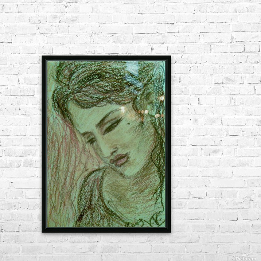 Woman  HD Sublimation Metal print with Decorating Float Frame (BOX)