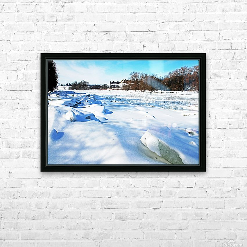 Frazil Ice On The Grand River West Montrose HD Sublimation Metal print with Decorating Float Frame (BOX)