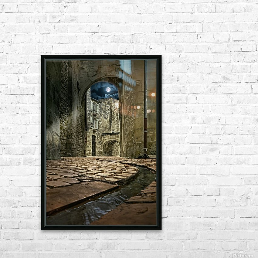 Moon over St. Remy HD Sublimation Metal print with Decorating Float Frame (BOX)