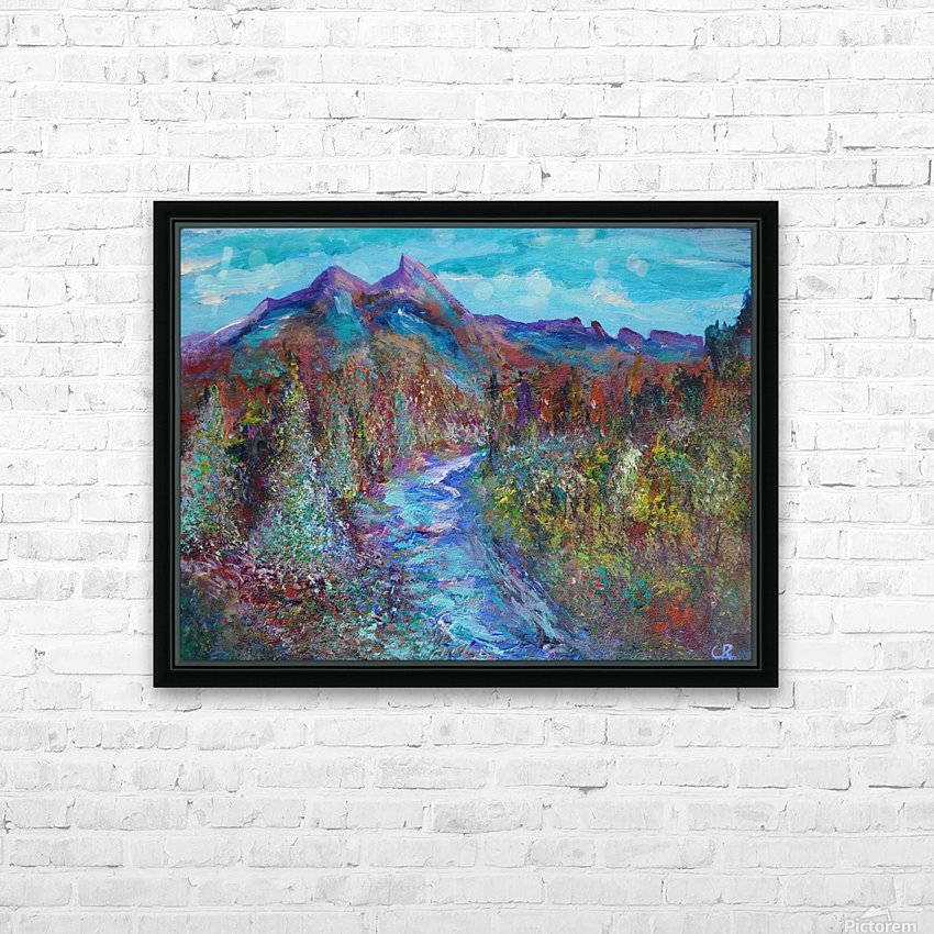 Maroon Bells and Maroon Creek Snowmass Wilderness Area HD Sublimation Metal print with Decorating Float Frame (BOX)