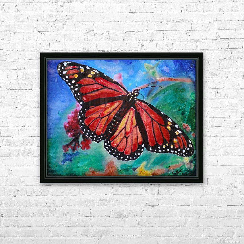 Colorado Butterfly HD Sublimation Metal print with Decorating Float Frame (BOX)